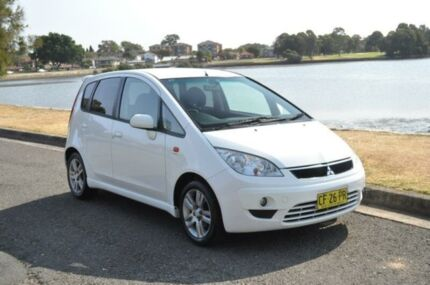 2010 Mitsubishi Colt RG MY11 VR-X White Continuous Variable Hatchback