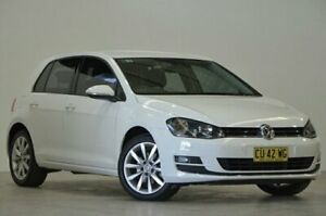 2015 Volkswagen Golf VII MY15 103TSI DSG Highline White 7 Speed Sports Automatic Dual Clutch Mascot Rockdale Area Preview