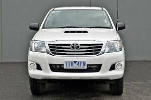 2014 Toyota Hilux White Manual Utility Cranbourne Casey Area Preview