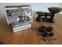Vintage Salter traditional kitchen scales with weights