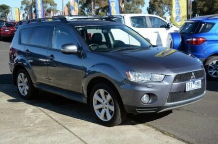 2012 Mitsubishi Outlander ZH MY12 XLS Luxury Grey 6 Speed Constant Variable Wagon Mornington Mornington Peninsula Preview