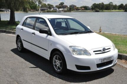 2006 Toyota Corolla ZZE122R MY06 Ascent Seca White 4 Speed Automatic Hatchback