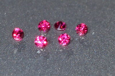 A Single Gorgeous 1.5mm IF Brilliant Cut Genuine Red Ruby!!!