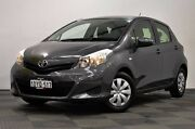 2012 Toyota Yaris NCP130R YR Grey 4 Speed Automatic Hatchback Edgewater Joondalup Area Preview
