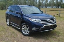 2011 Toyota Kluger GSU40R MY11 Grande 2WD Dynamic Blue 5 Speed Sports Automatic Wagon Berserker Rockhampton City Preview