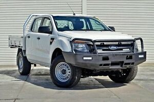 2013 Ford Ranger PX XL Double Cab White 6 Speed Manual Cab Chassis Seaford Frankston Area Preview