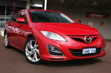 2010 Mazda 6 GH1052 MY10 Luxury Sports Velocity Red 5 Speed Auto Seq Sportshift Hatchback Northbridge Perth City Preview