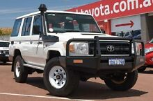 2012 Toyota Landcruiser VDJ76R MY13 Workmate White 5 Speed Manual Wagon Balcatta Stirling Area Preview