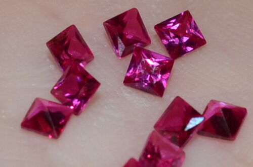 A Single Gorgeous 3mm VVS Princess Cut Genuine Red Ruby!!!