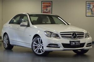 2011 Mercedes-Benz C300 W204 MY10 Avantgarde 7G-Tronic White 7 Speed Sports Automatic Sedan