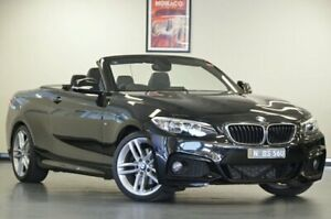 2015 BMW 220i F23 M Sport Sapphire Black 8 Speed Semi Auto Convertible