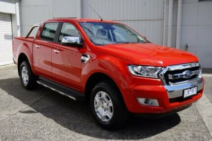 2017 Ford Ranger PX MkII XLT Double Cab Red 6 Speed Sports Automatic Utility