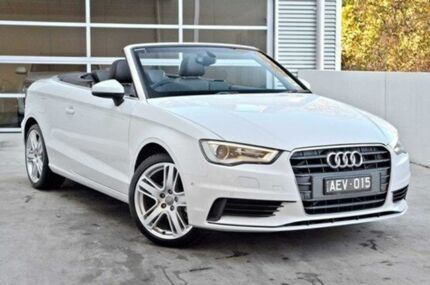 2015 Audi A3 8V MY15 Attraction S tronic White 7 Speed Sports Automatic Dual Clutch Cabriolet Berwick Casey Area Preview