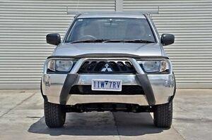 2009 Mitsubishi Triton ML MY09 GLX Silver 4 Speed Automatic Cab Chassis Seaford Frankston Area Preview