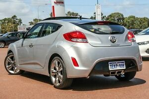 2014 Hyundai Veloster FS3 + Coupe D-CT Silver 6 Speed Sports Automatic Dual Clutch Hatchback Wangara Wanneroo Area Preview