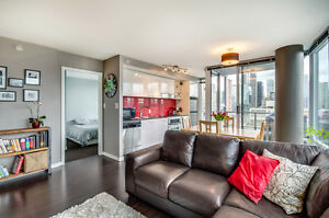 Furnished 2 beds + den condo with view