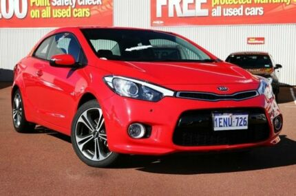 2012 Kia Cerato TD MY12 Koup SI Red 6 Speed Auto Seq Sportshift Coupe Glendalough Stirling Area Preview