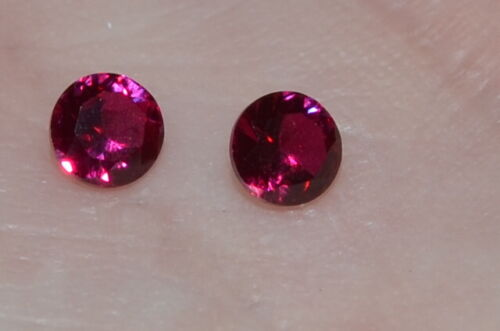 A Single Gorgeous 5mm IF Brilliant Cut Genuine Red Ruby!!!