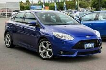 2012 Ford Focus LW MKII ST Blue 6 Speed Manual Hatchback Glendalough Stirling Area Preview