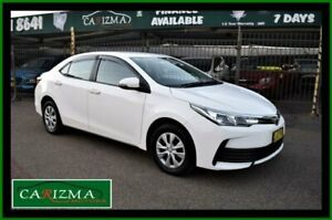 2017 Toyota Corolla ZRE172R MY17 Ascent White 7 Speed CVT Auto Sequential Sedan Seven Hills Blacktown Area Preview