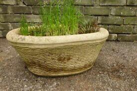 Concrete stone planter plant pot
