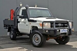 2011 Toyota Landcruiser White Manual Cab Chassis Cranbourne Casey Area Preview