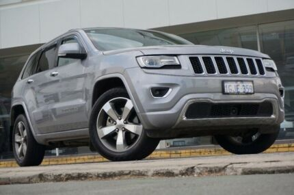 2015 Jeep Grand Cherokee WK MY15 Overland Silver 8 Speed Sports Automatic Wagon St James Victoria Park Area Preview