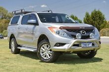 2014 Mazda BT-50 UP0YF1 GT Silver 6 Speed Sports Automatic Utility Pearsall Wanneroo Area Preview