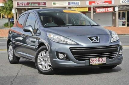 2010 Peugeot 207 A7 Series II MY10 XT Thorium Grey 5 Speed Manual Hatchback Mount Gravatt Brisbane South East Preview