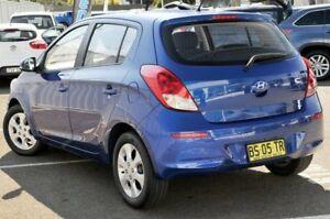 2011 Hyundai i20 PB MY12 Active Blue 5 Speed Manual Hatchback