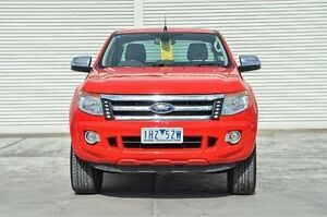 2013 Ford Ranger PX XLT Super Cab 4x2 Hi-Rider Red 6 Speed Sports Automatic Utility Seaford Frankston Area Preview
