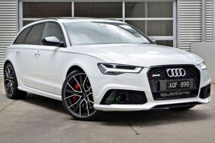 2017 Audi RS6 4G MY17 performance Avant Tiptronic quattro White 8 Speed Sports Automatic Wagon