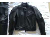 Ladies Dainese 2 piece leathers.