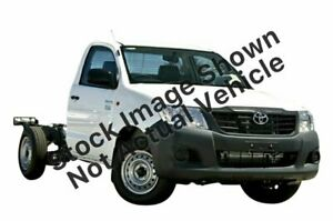 2012 Toyota Hilux TGN16R MY12 Workmate 4x2 White 5 Speed Manual Cab Chassis Canning Vale Canning Area Preview