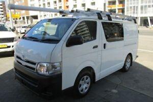 2011 Toyota Hiace KDH201R MY11 Upgrade LWB White 5 Speed Manual Van