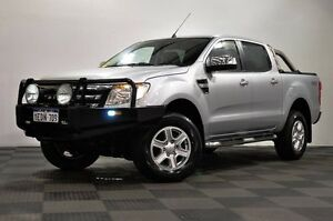 2013 Ford Ranger PX XLT Double Cab Silver 6 Speed Manual Utility Edgewater Joondalup Area Preview