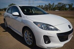 2012 Mazda 3 BL10L2 MY13 SP25 White 6 Speed Manual Hatchback Vincent Townsville City Preview