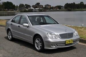 2004 Mercedes-Benz C180 W203 Upgrade Kompressor Classic Silver 5 Speed Auto Tipshift Sedan Croydon Burwood Area Preview