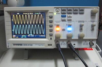 Gw Instek Gds-2102 100mhz 1gsas Digital Storage Oscilloscope With Usb Interface