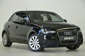2015 Audi A1 8X MY14 Attraction Sportback S Tronic Black 7 Speed Sports Automatic Dual Clutch Mascot Rockdale Area Preview