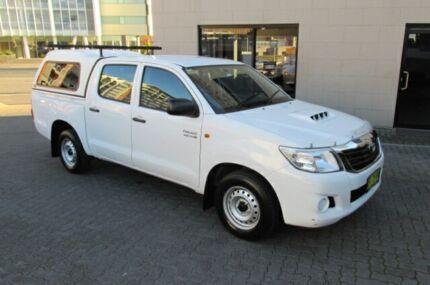 2013 Toyota Hilux KUN16R MY12 SR White 5 Speed Manual Dual Cab Pick-up