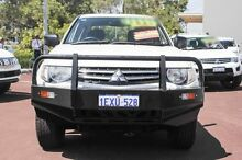 2010 Mitsubishi Triton MN MY10 GLX Double Cab White 4 Speed Automatic Utility Cannington Canning Area Preview