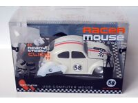 Car Mouse Beetle Racer USB Optical Mouse White - Brand New Sealed