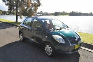 2006 Toyota Yaris NCP90R YR Green 5 Speed Manual Hatchback Croydon Burwood Area Preview