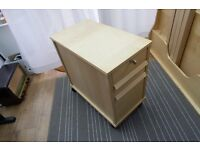 IKEA filing cabinet with drawers. Beech finish. Excellent condition