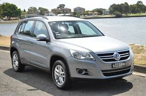 2009 Volkswagen Tiguan 5NC MY09 125 TSI Silver 6 Speed Tiptronic Wagon Croydon Burwood Area Preview