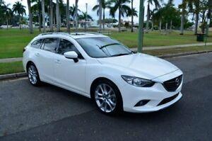 2014 Mazda 6 GJ1031 GT SKYACTIV-Drive White 6 Speed Sports Automatic Wagon Rockhampton Rockhampton City Preview