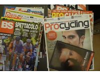 FREE pile of assorted road cycling magazines