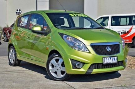 2010 Holden Barina Spark MJ MY11 CDX Green 5 Speed Manual Hatchback Lake Gardens Ballarat City Preview