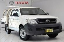 2009 Toyota Hilux TGN16R MY10 Workmate Super White 5 Speed Manual Utility Waterloo Inner Sydney Preview